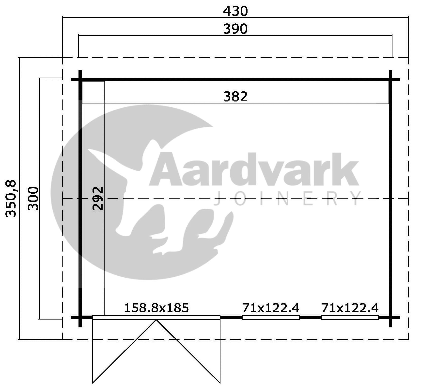 Allora Q floor plan with sizes from Aardvark
